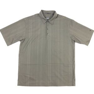 Tiger Woods Nike Golf Fit Dry Brown Polo Shirt